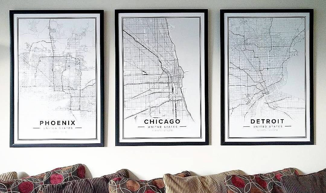 Map Posters and Interior Decoration from Mapiful